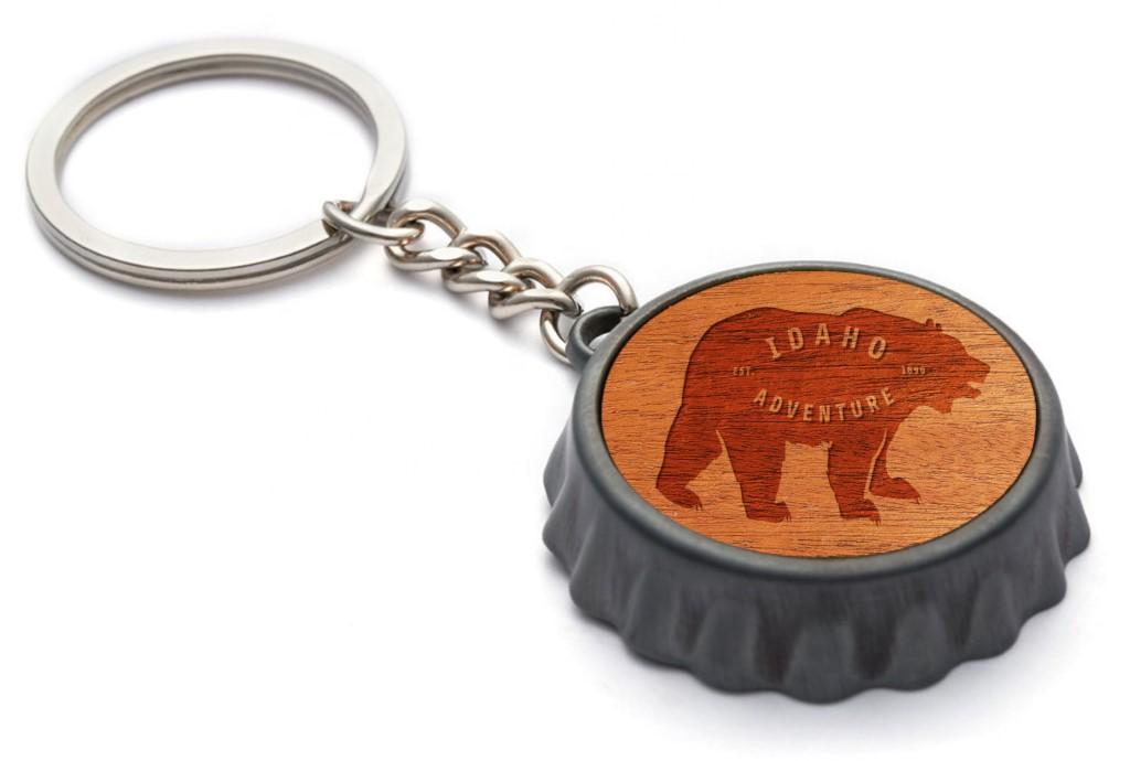 Premium Steel & Wood Keychain (circular)